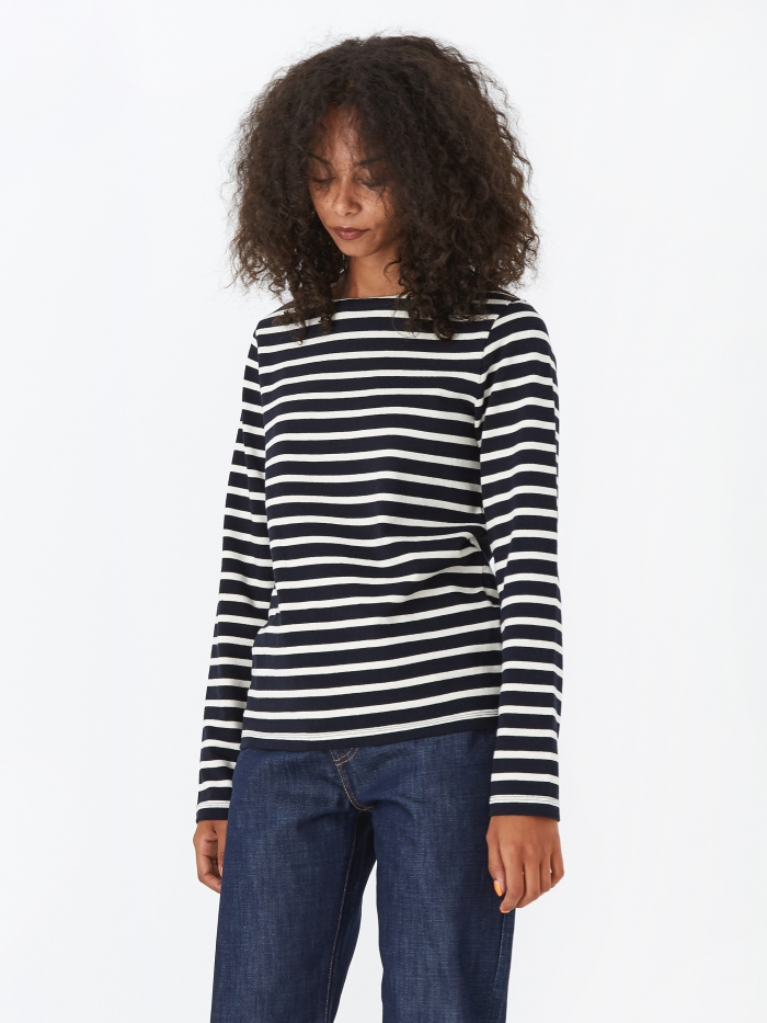 Norse Projects Inge Classic Stripe Top - Dark Navy (Image 1)