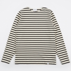Norse Projects Godtfred Compact Longsleeve T-Shirt - Ecru/Navy