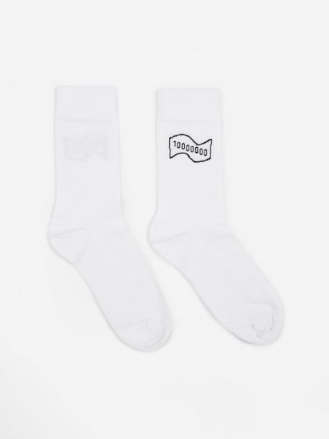 10000000 Yen Socks - White