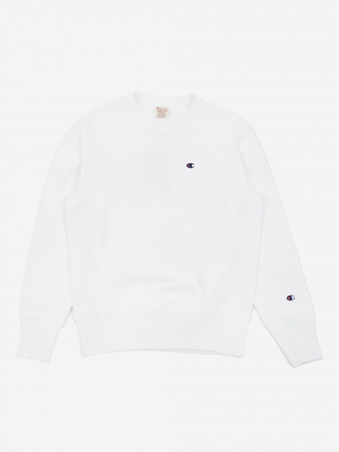 Reverse Weave Crew Neck Sweatshirt - White