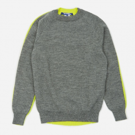 Knitted Jumper - Grey/Yellow
