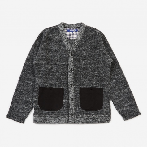 Shaggy Cardigan - Black/White