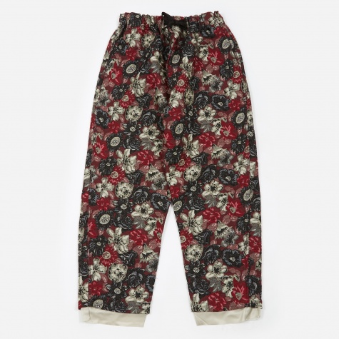 String Work Pant - Flower Print