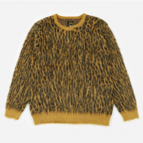 Leopard Mohair Sweater - Gold