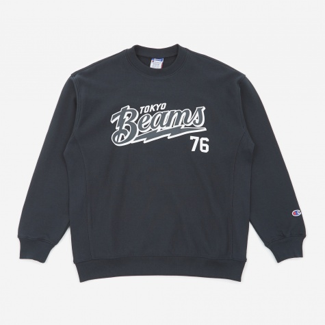 Reverse Weave x Beams Crewneck Sweatshirt - Navy