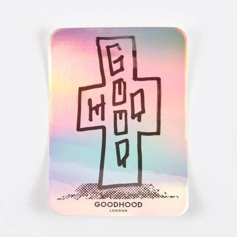 Cross Sticker - Silver