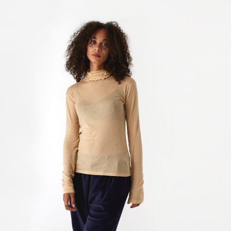 Puig Sheer Turtle Neck Top - Hubba/Tan