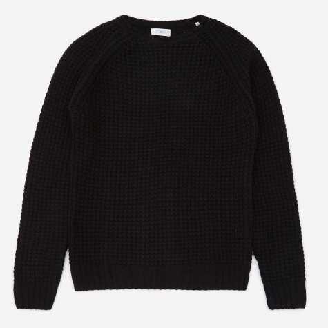 Miguel Waffle Knit Sweater - Black