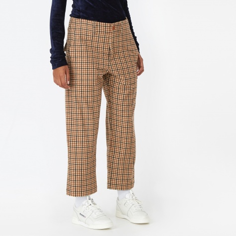 Camille Trouser - Brown Check