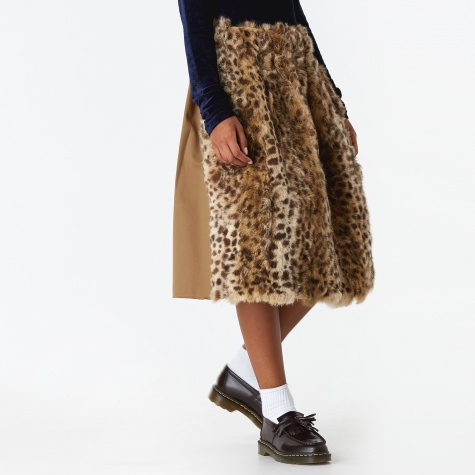 Furry Skirt - Leopard