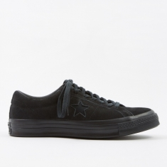 Converse One Star Ox - Vintage Suede Black Mono