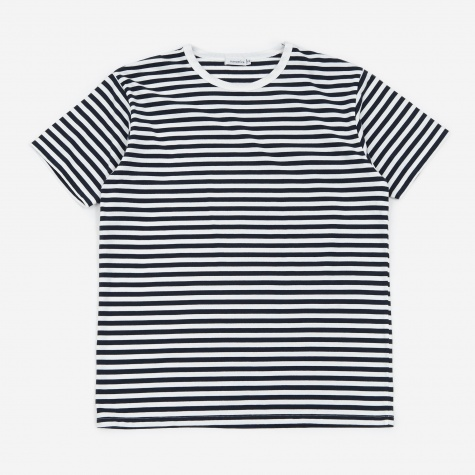 COOLMAX Stripe Jersey T-Shirt - Navy/White