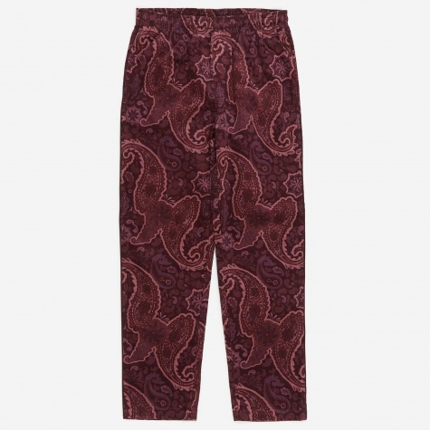 Side Piping Cord Pant - Burgundy
