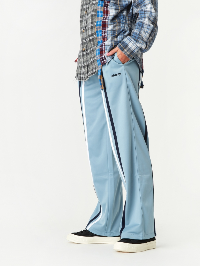 Stussy Rory Striped Track Pant - Light Blue (Image 1)