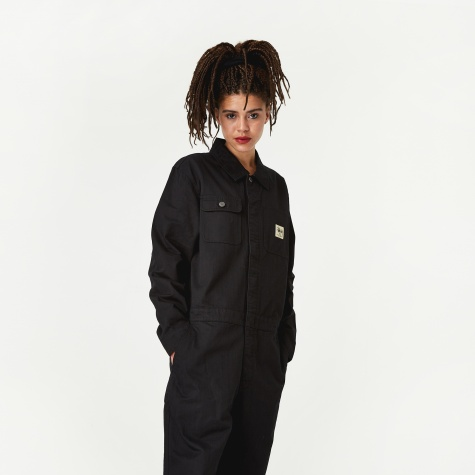 Herringbone Coverall - Black