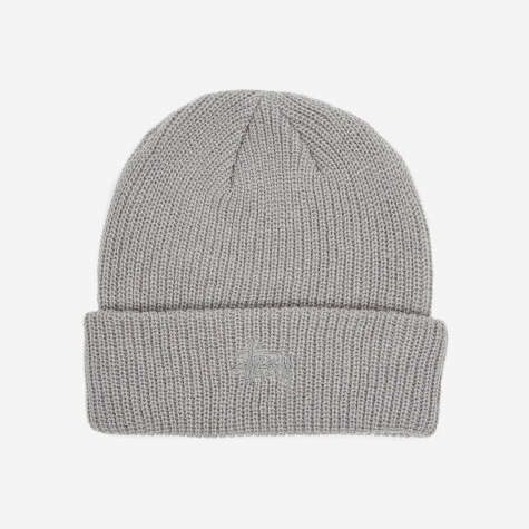 Basic Cuff Beanie - Grey Heather