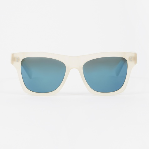 Norton Sunglasses - Matte Champagne/Blue Mirror