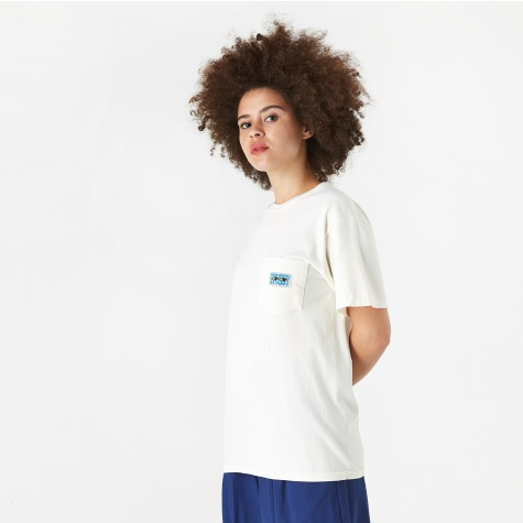 Red Eyes Pocket T-Shirt - Natural