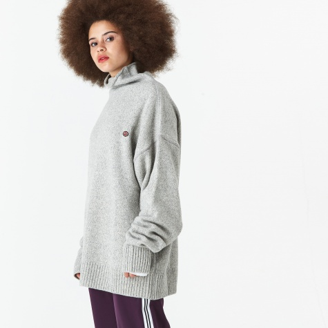 Polo Neck Jumper - Grey