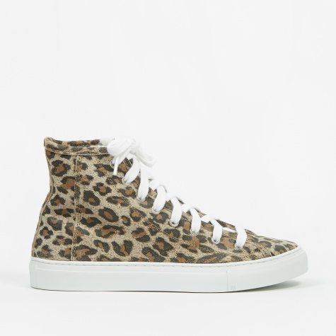 Veneto Alto High Top - Leopard Suede/Shearling