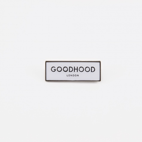 Goodhood London Pin Badge - White