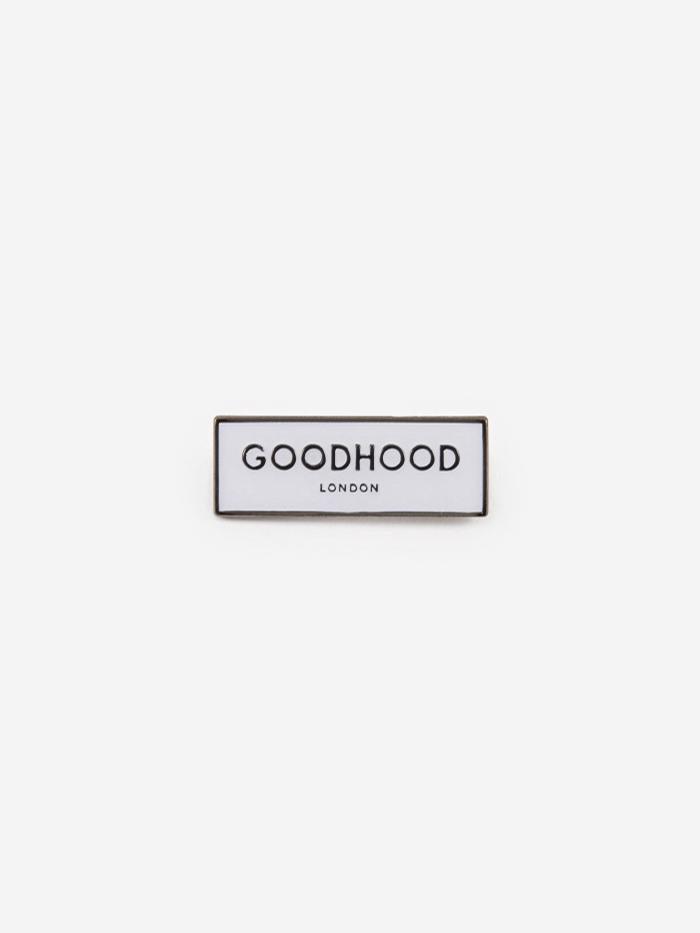 Goods By Goodhood Goodhood London Pin Badge - White (Image 1)