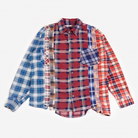 Rebuild 7 Cuts Flannel Shirt Size Medium - Assorted