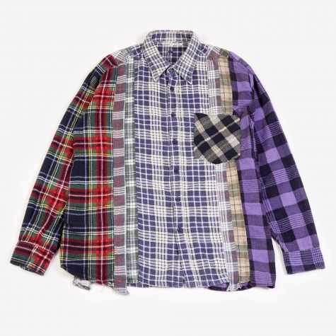 Rebuild 7 Cuts Flannel Shirt Size Large - Assorted