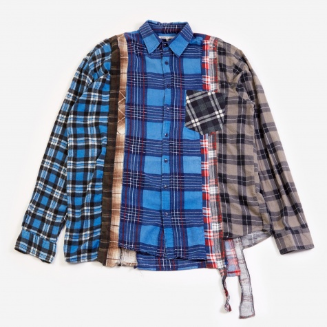 Rebuild 7 Cuts Flannel Shirt Size X-Large  - Assorted