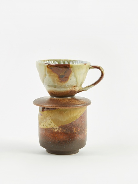 Coffee Pour Over + Pinch Cup - Teak