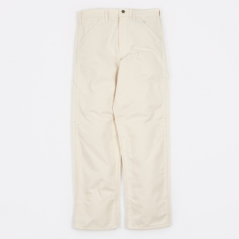 Single Front Painter Trousers - Natural