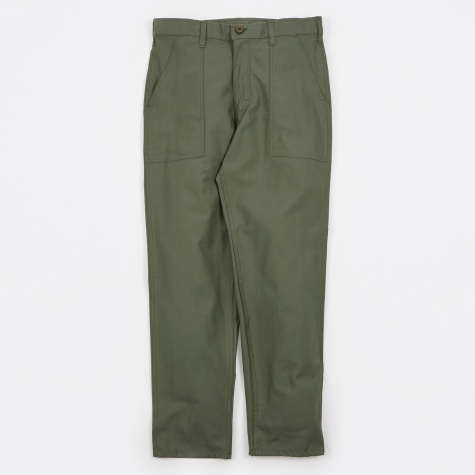 Taper Fit 4 Pocket Fatigue Trousers 8.5oz - Olive Drab