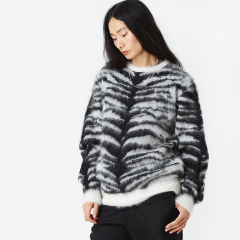 Tiger Mohair Sweater - White