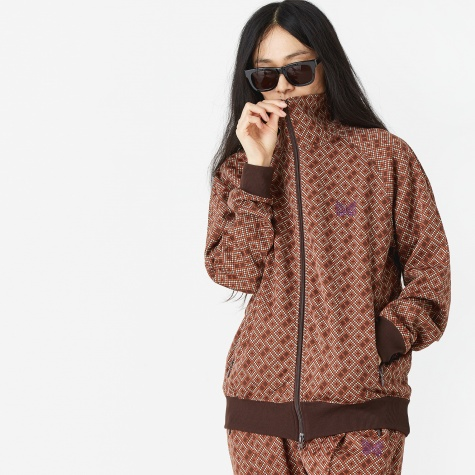 Jacquard Track Top - Brown