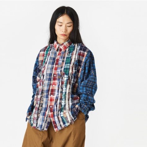 Wide Ribbon Flannel Shirt - Assorted