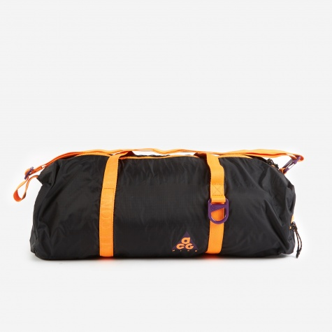 ACG Packable Duffle Bag - Purple/Black/Bright Mandarin