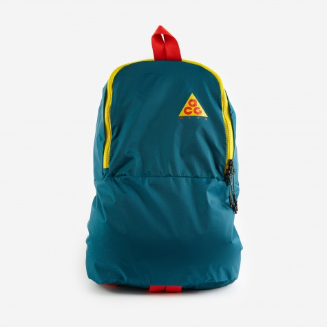 ACG Packable Back Pack - Teal/Midnight Spruce/Habanero Red
