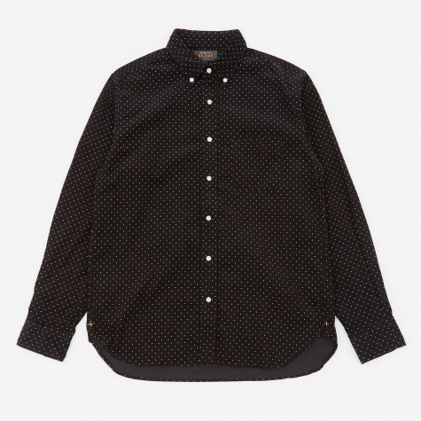 Dot Corduroy Shirt - Black