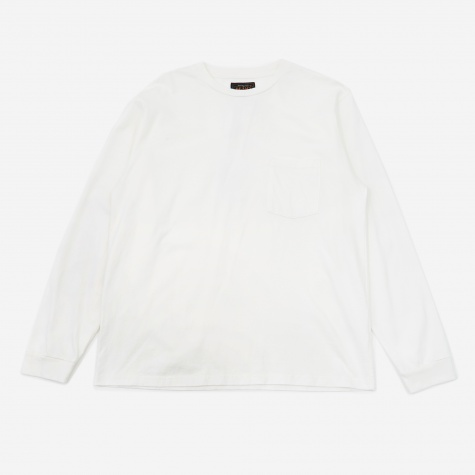 Longsleeve Pocket T-Shirt 40/2 - White