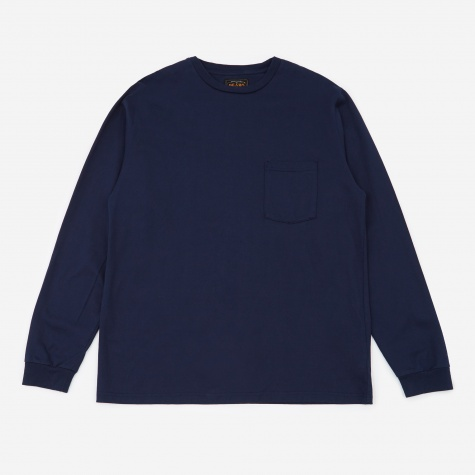 Longsleeve Pocket T-Shirt 40/2 - Navy