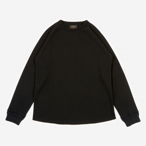 Thermal Crewneck T-Shirt - Black