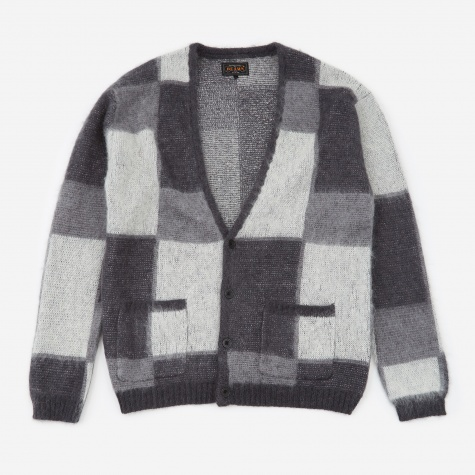 Shaggy Cardigan - Grey Mix