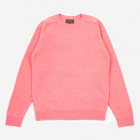 Knitted Crewneck Jumper - Pink