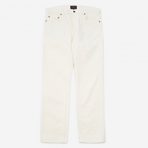 Tapered Corduroy Trouser - Natural
