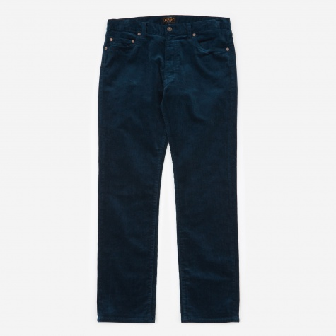 Tapered Corduroy Trouser - Blue
