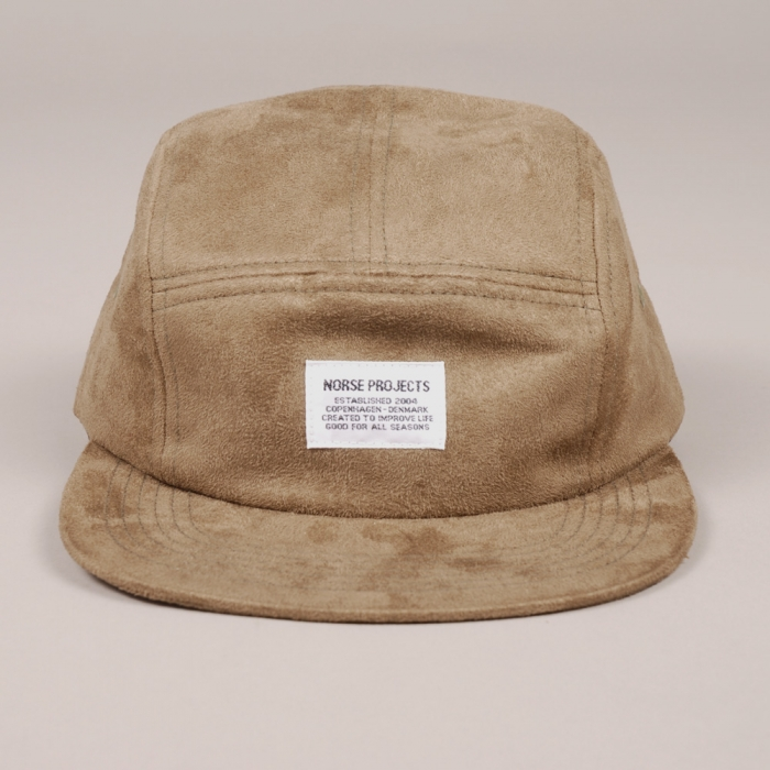 9f27b30ba57 Norse Projects 5 Panel Suede Cap - Green (Image 1)