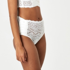 Lonely Patsy High Waist Brief - Ivory