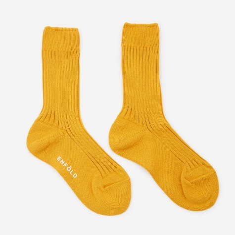 Rib Socks - Dark Yellow