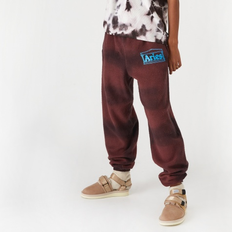 Tie Dye Sweat Pant - Red/Black