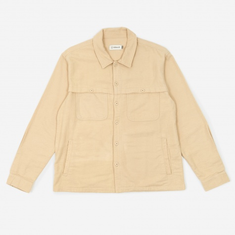 Front Yoke Overshirt - Almond Milk